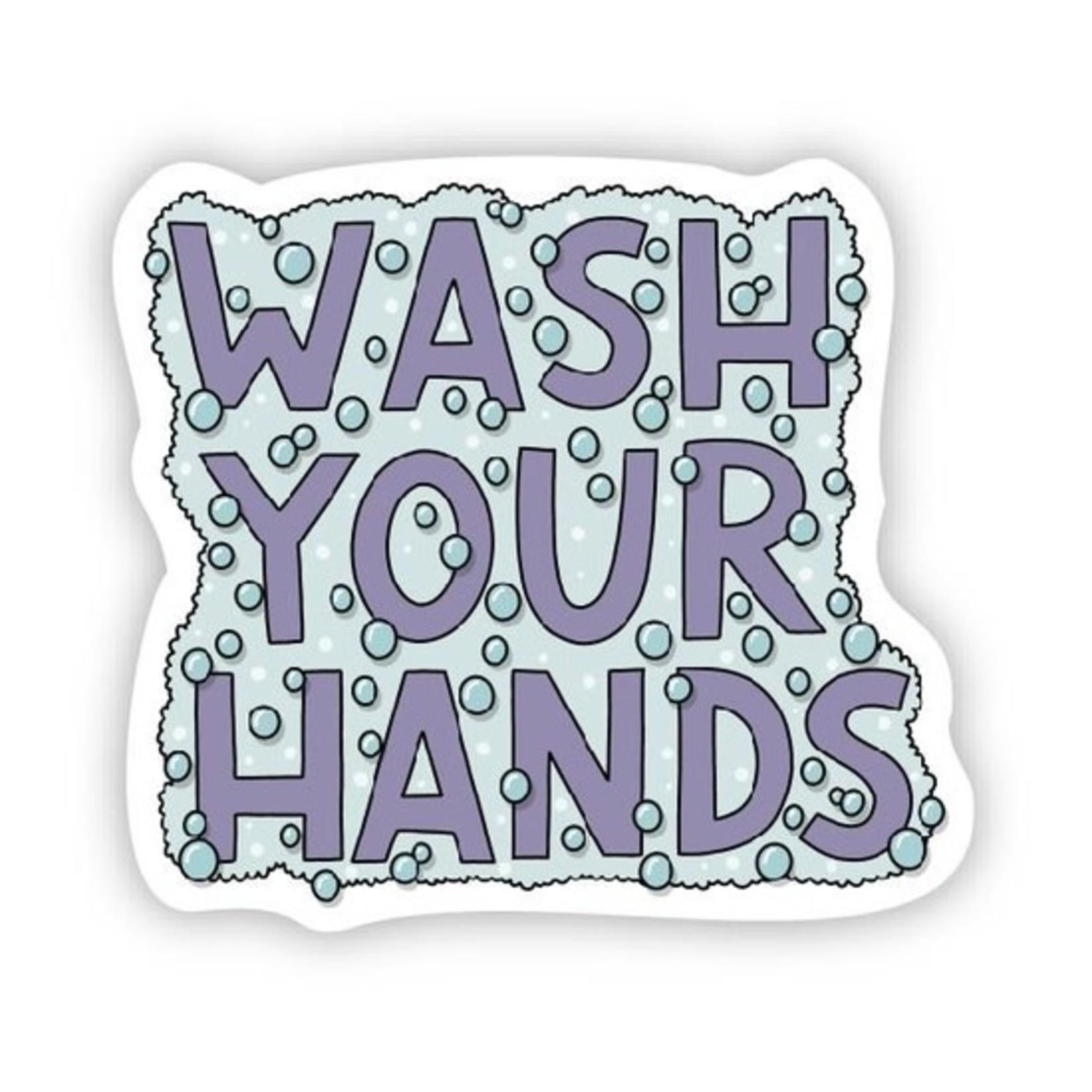 Big Moods Wash your hands sticker