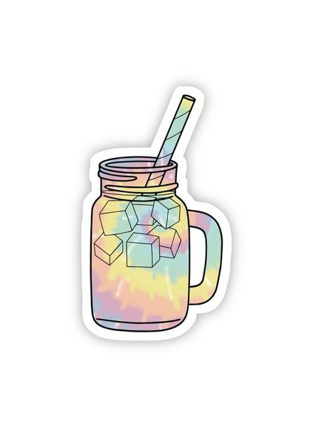 Big Moods Tie Dye Iced Coffee Sticker