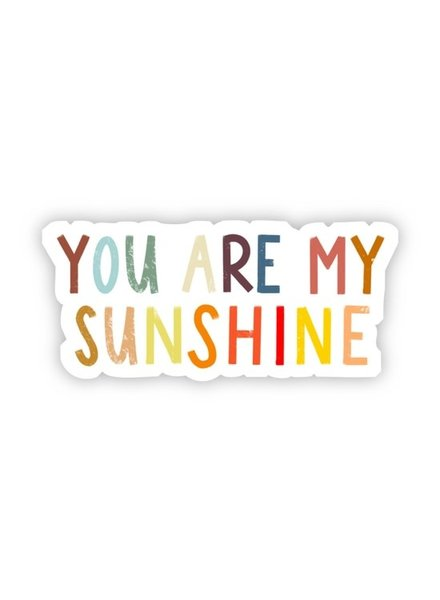 Big Moods You Are My Sunshine Multicolor Sticker