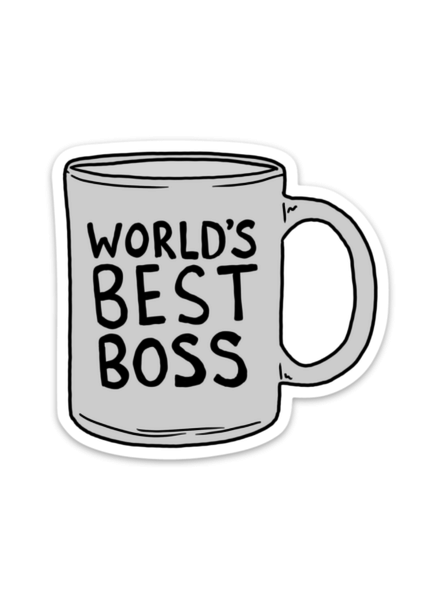 Big Moods World's Best Boss Mug Sticker