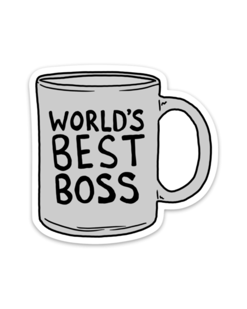 Big Moods World's Best Boss Mug Sticker