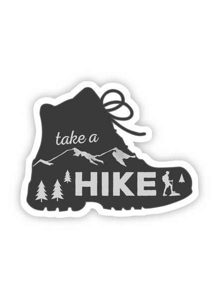 Big Moods Take a Hike Boot Sticker