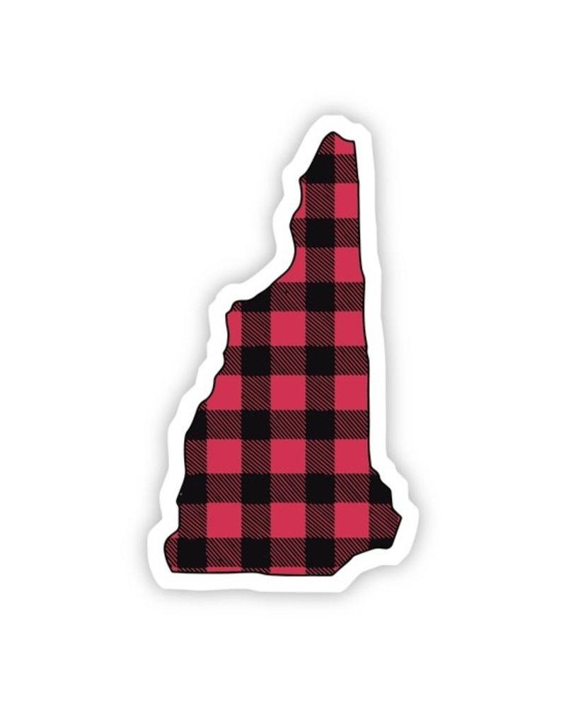 Big Moods New Hampshire Flannel Sticker