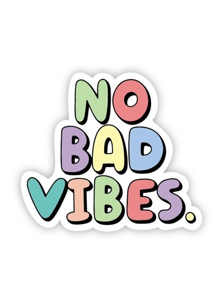 Big Moods No Bad Vibes Multi Color Sticker