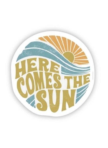 Big Moods Here Comes The Sun Sticker