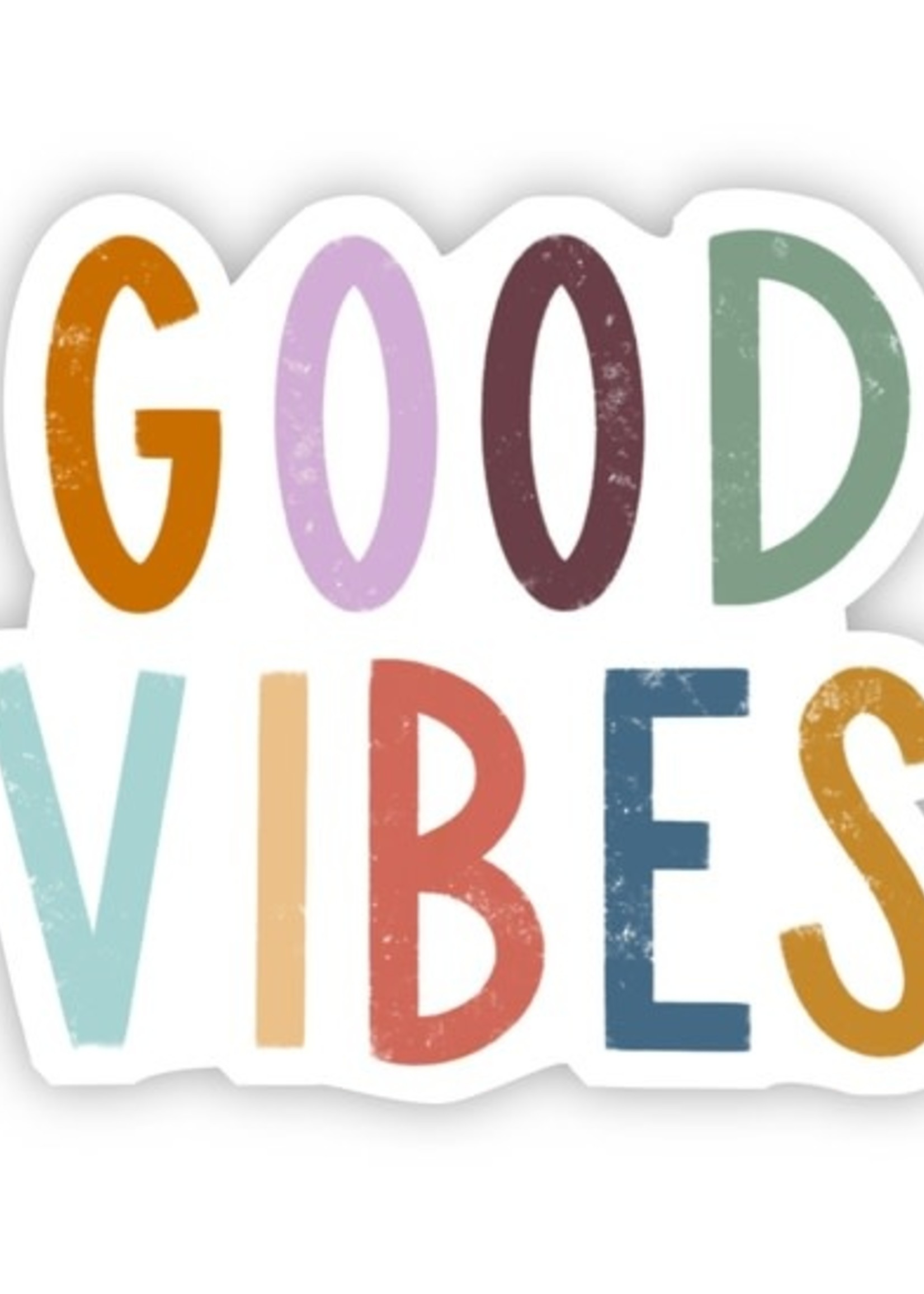 Big Moods Good Vibes Hand Lettering Sticker
