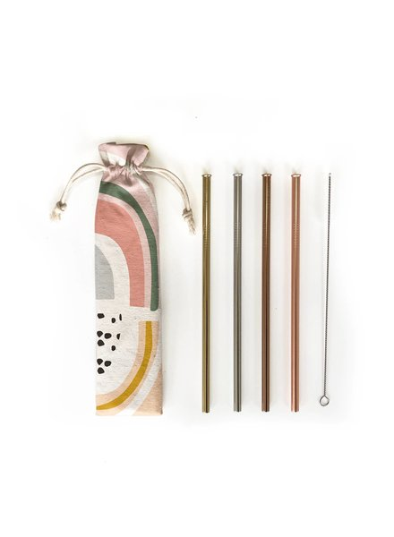 Hali Hali LLC Prisim 6 Piece Reusable Straw Set