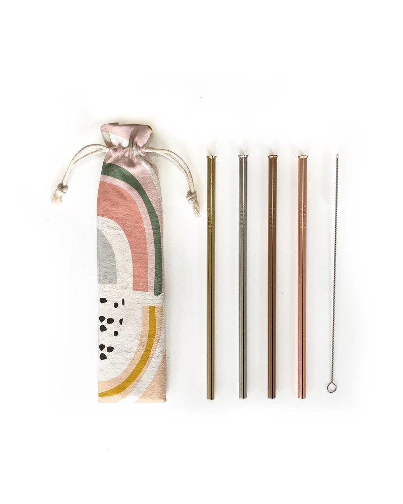 Hali Hali LLC Prisim 6 Piece Reusable Straw Set
