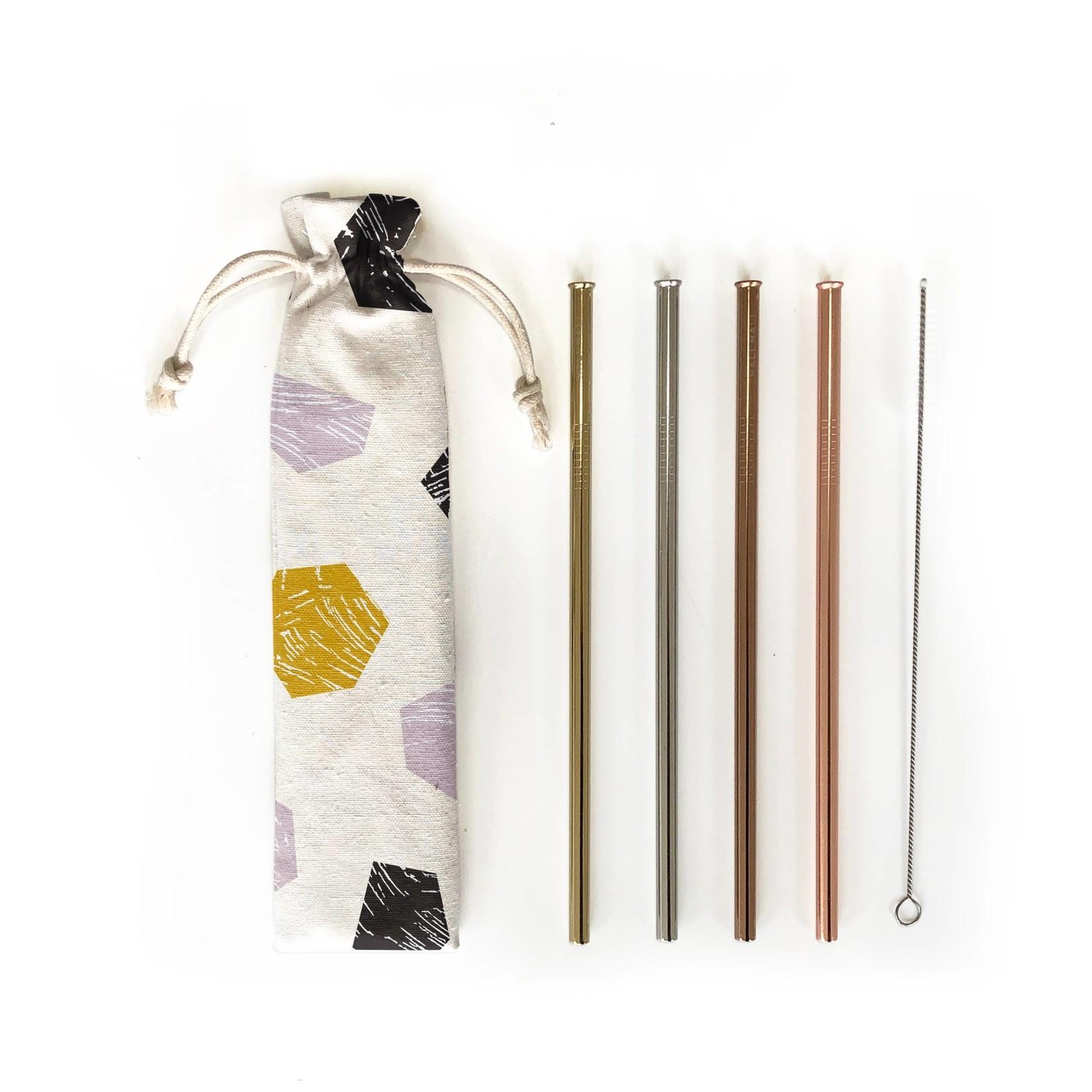 Hali Hali LLC Stop & Stare 6 Piece Reusable Straw Set