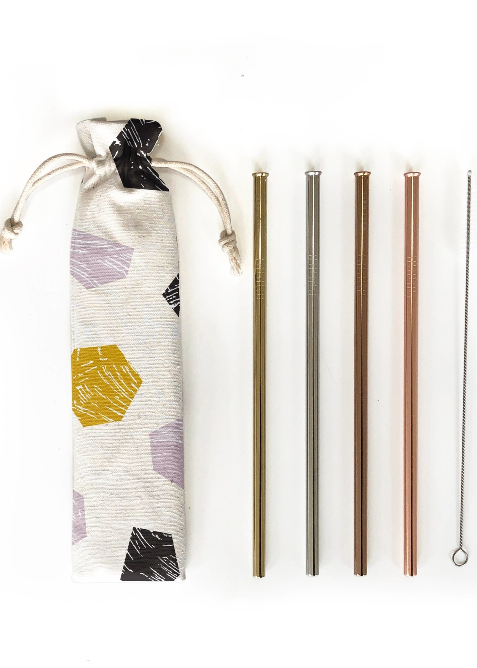 Hali Hali LLC Stop & Stare 6 Piece Reusable Straw Set