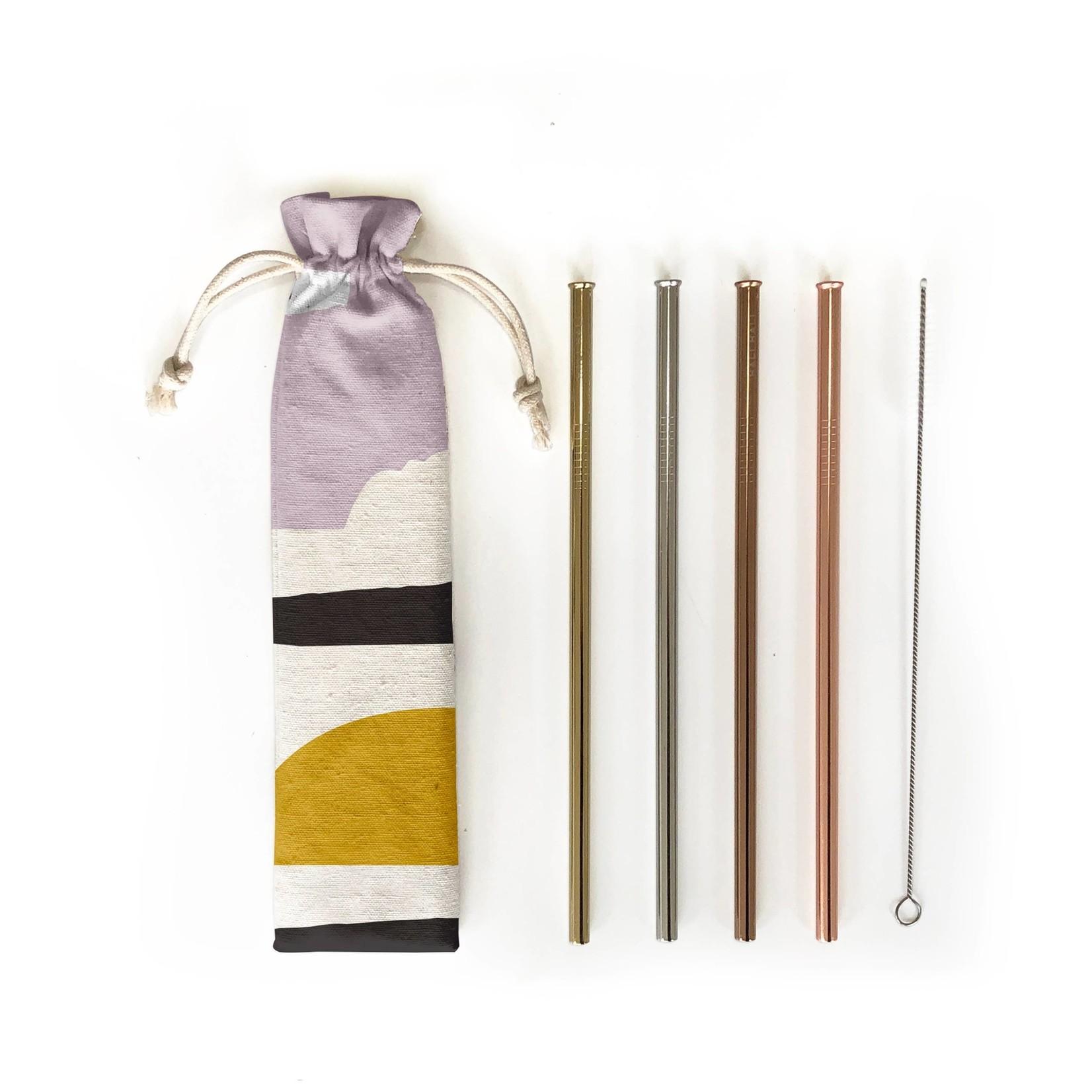 Hali Hali LLC Sunset 6 Piece Reusable Straw Set