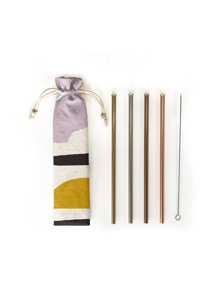 Hali Hali LLC Sunset 6 Piece Reusable Straw Set