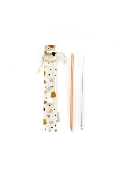 Hali Hali LLC Terrazzo 3 Piece Reusable Straw Set