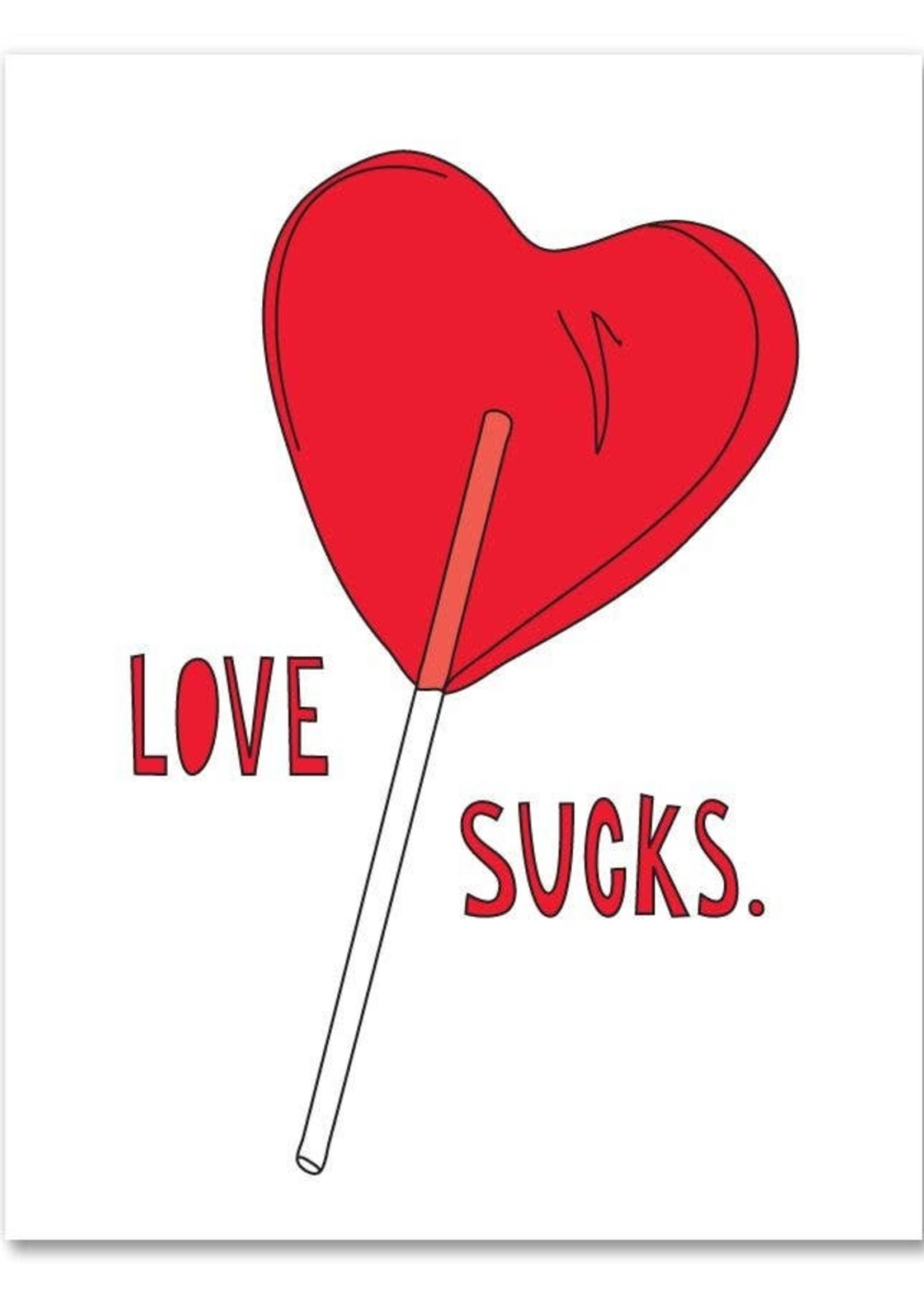 Near Modern Disaster Love Sucks Card