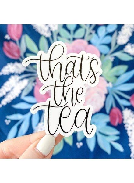 That's the Tea Sticker, 3x1.5in.