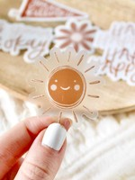 Clear Mini Sun Sticker, 1.5x1.5 in.
