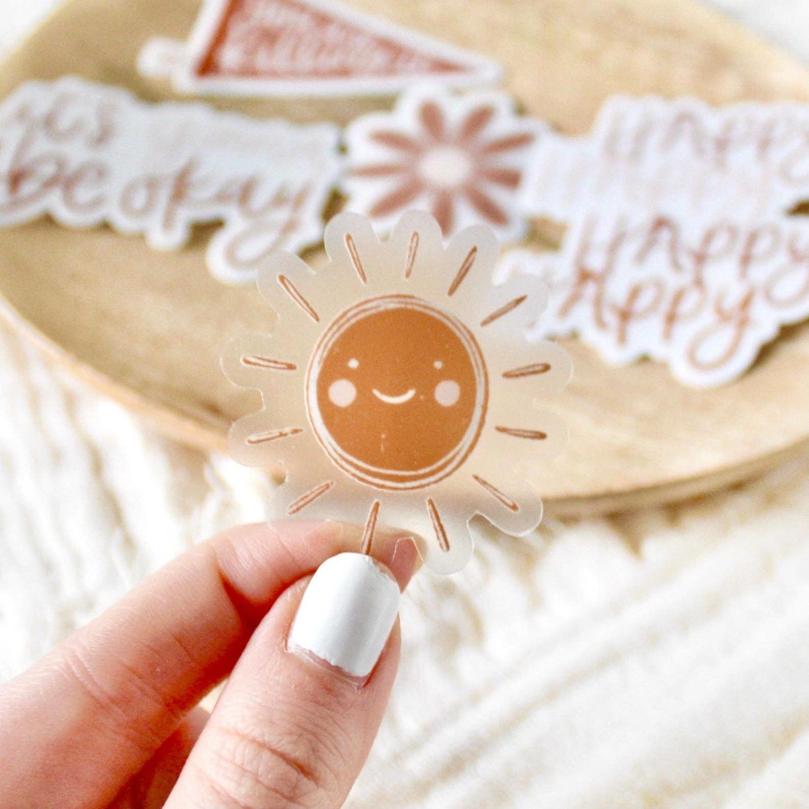 Clear Mini Sun Sticker, 1.5x1.5 in.