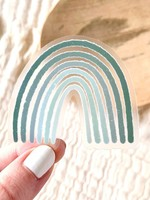 Clear Green Rainbow Sticker, 2.5x2.5 in.