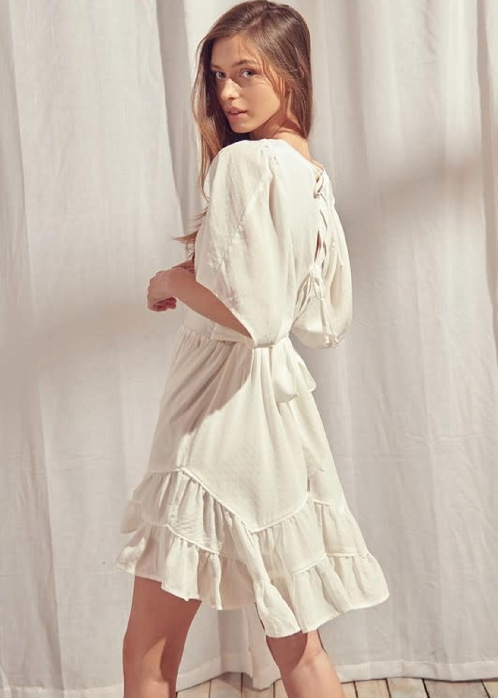 EM & ELLE Lilianne Ruffled Mini Dress