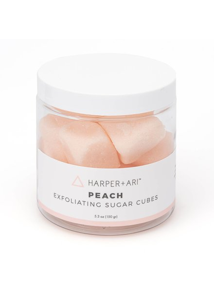 Harper + Ari Peach Exfoliating Sugar Cubes 5.3 oz