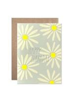 Hartland Brooklyn Birthday Daisies With Silver Glitter Foil Card