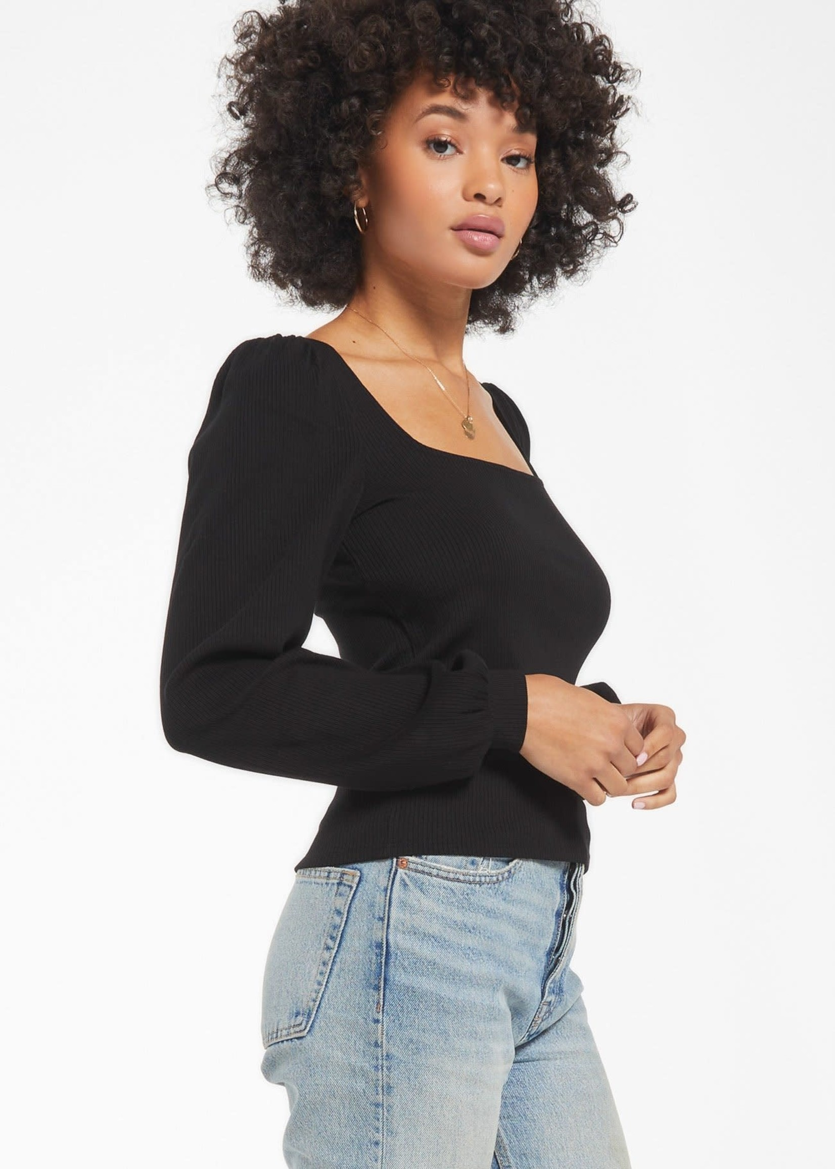 Z Supply Willow Rib Longsleeve Top