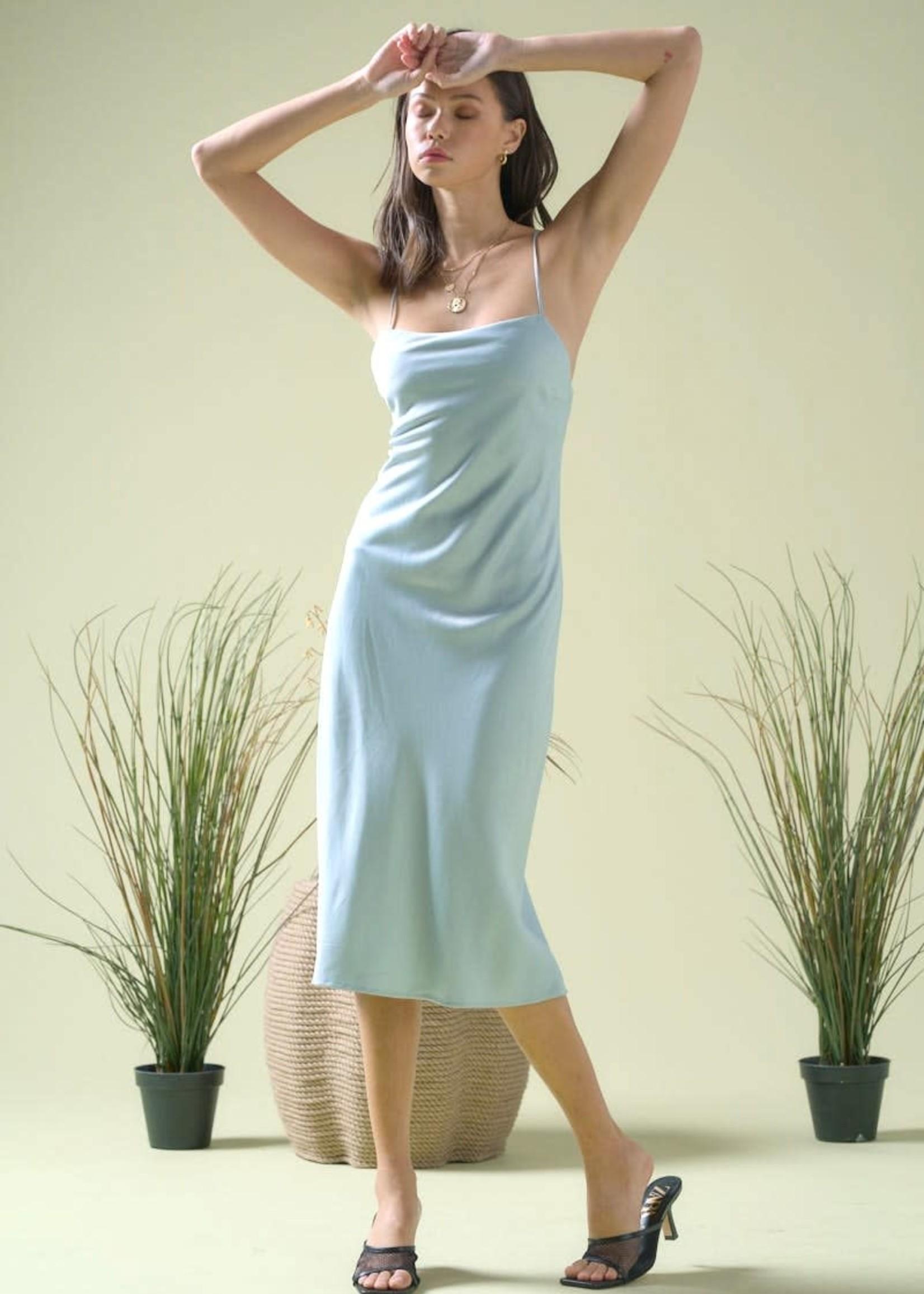 EM & ELLE Taylor Satin Slip Dress