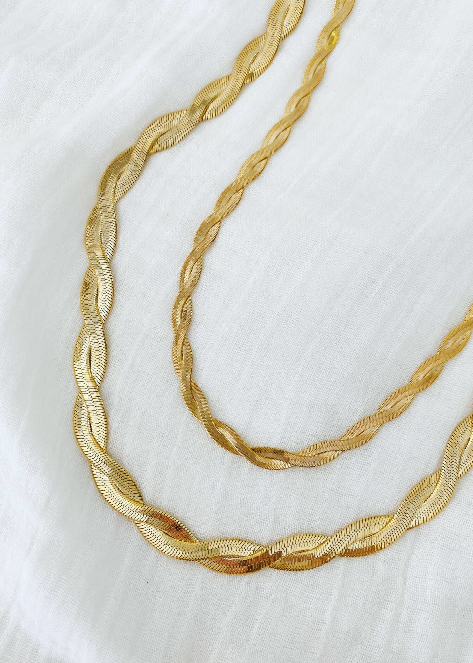 ALV Jewels Twisted Chain Snake Necklace