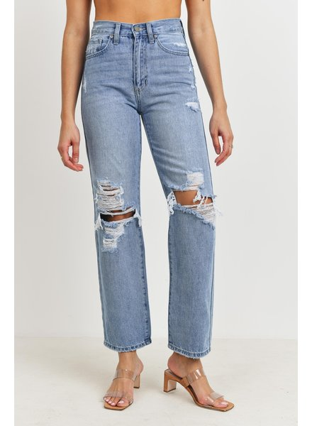 Just Black Denim High Rise Dad Jean