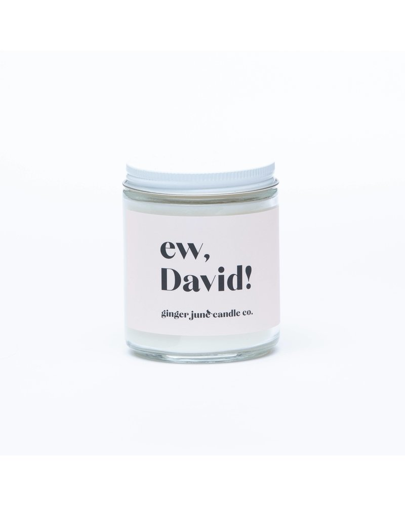 Ginger June Candle Co. EW, DAVID! • NON TOXIC SOY CANDLE