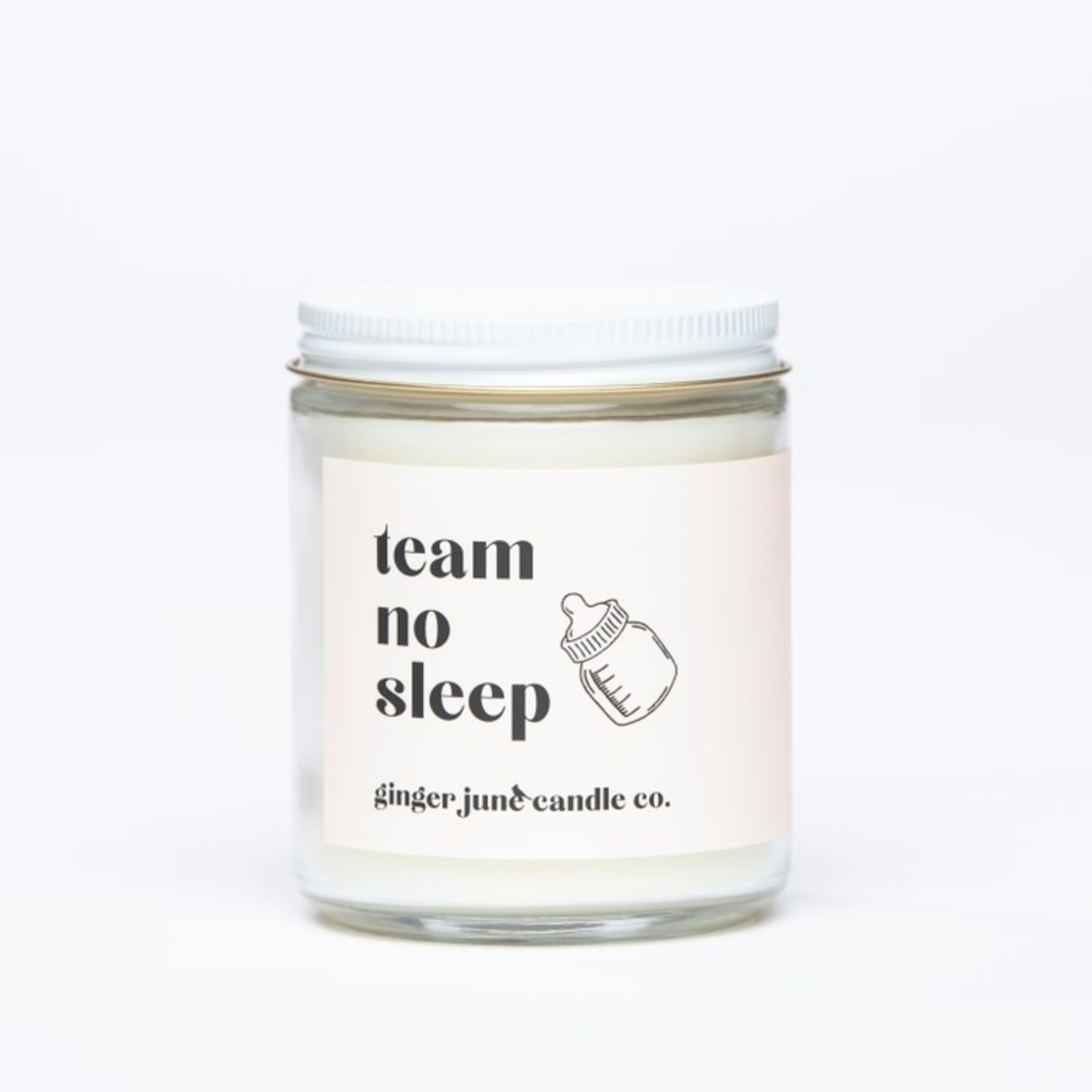 Ginger June Candle Co. TEAM NO SLEEP • NON TOXIC SOY CANDLE