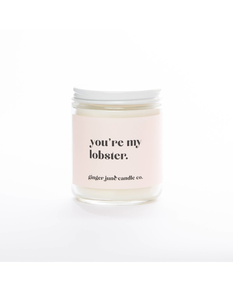 Ginger June Candle Co. you're my lobster • NON TOXIC SOY CANDLE