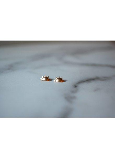 helmsie Sun Earrings 16k-GP