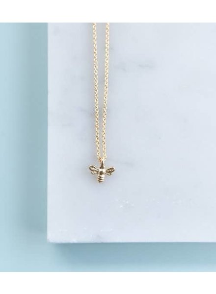 helmsie Single Bee Gold Plated Necklace