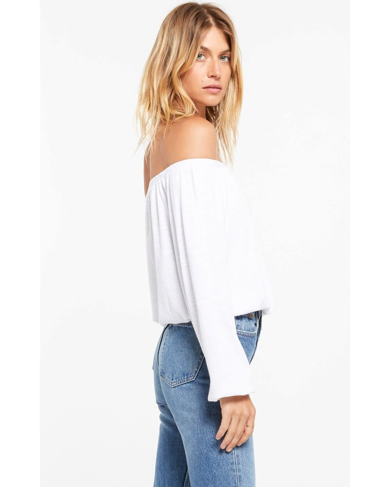 Z Supply Liv Slub Off Shoulder Top