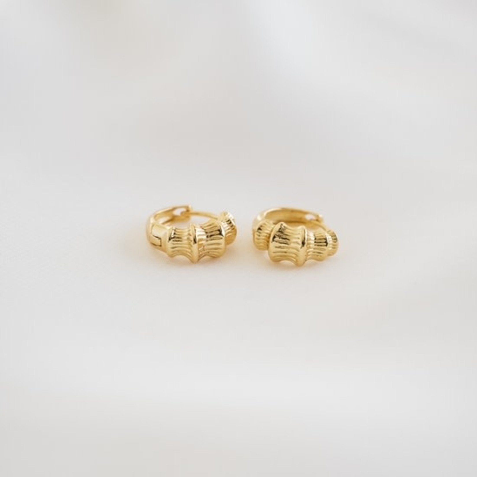 Nash & Ivy Mika Bamboo Huggie Earrings
