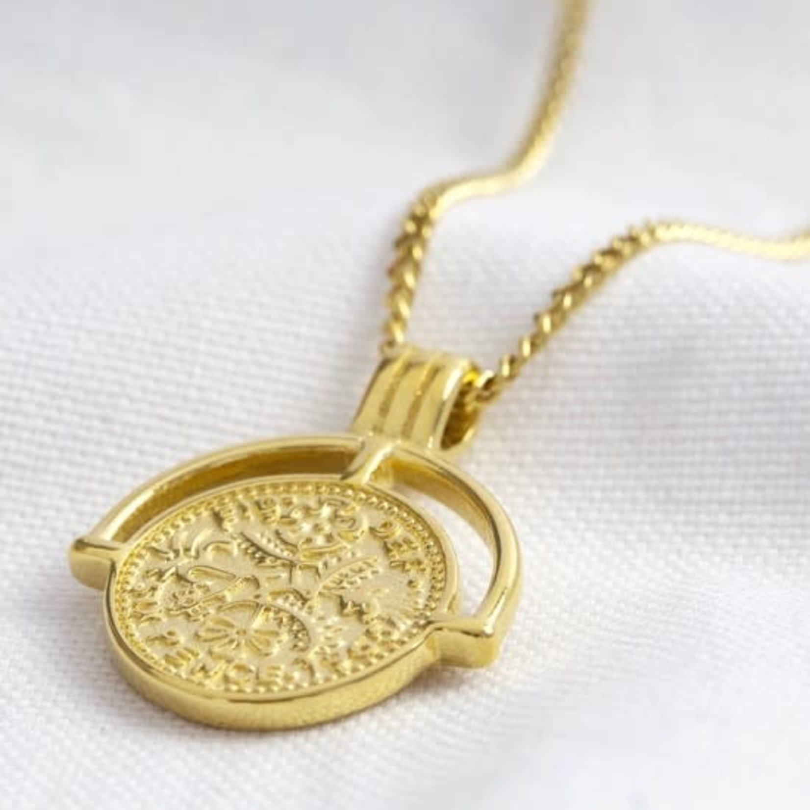 Sixpence Pendant Necklace