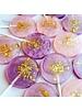 Purple & Pink Watercolor Lollipop, Passion Fruit