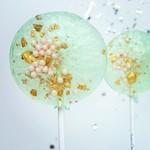 Sea Foam Green & Pink Lollipop, Pear