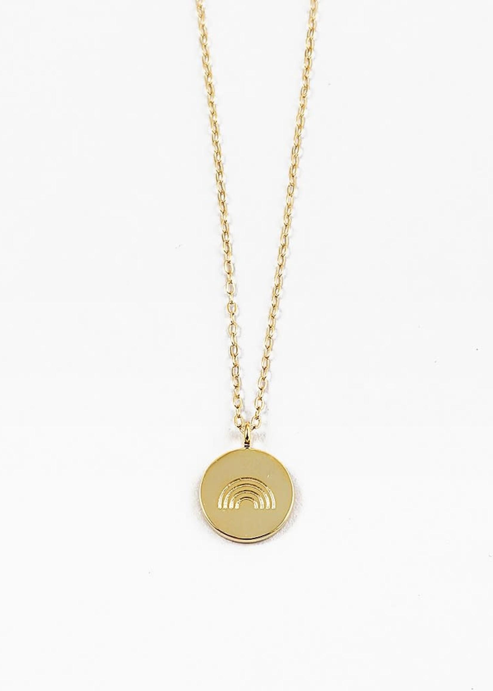 EM & ELLE Rainbow Disc Necklace