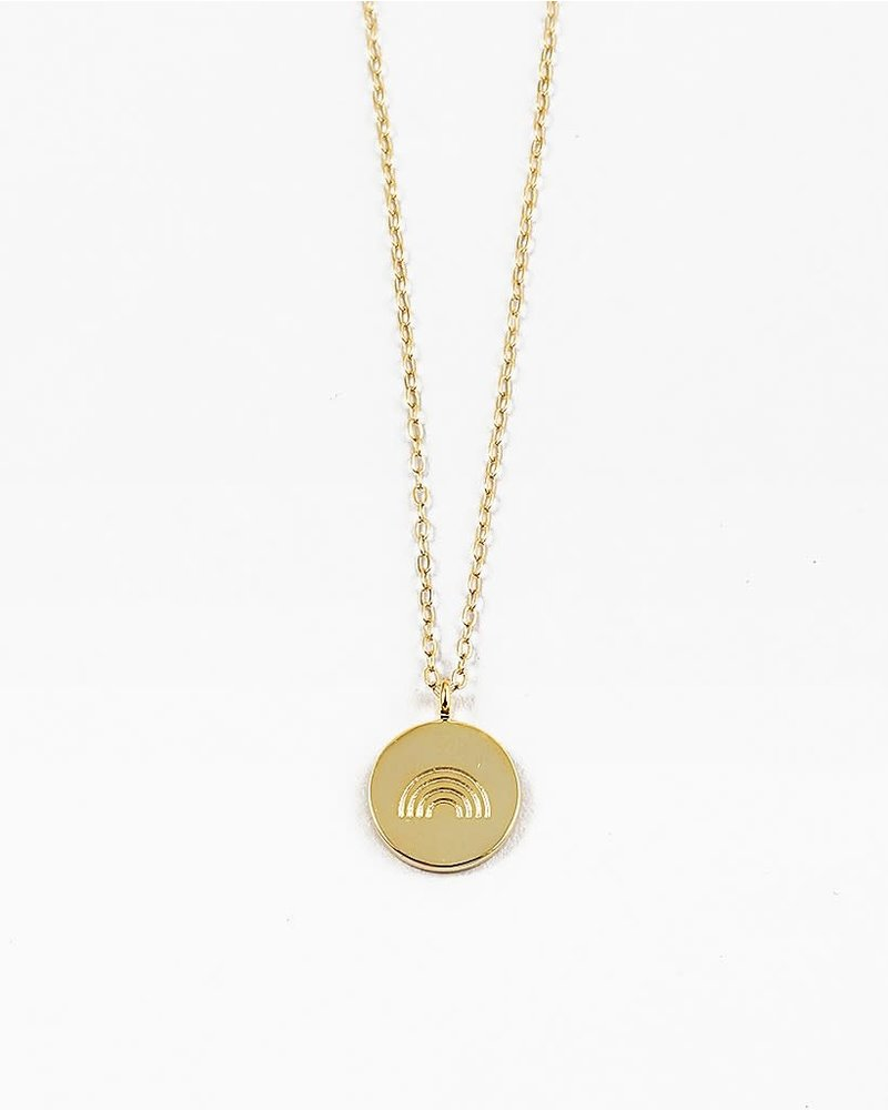EM & ELLE Rainbow Disc Necklace