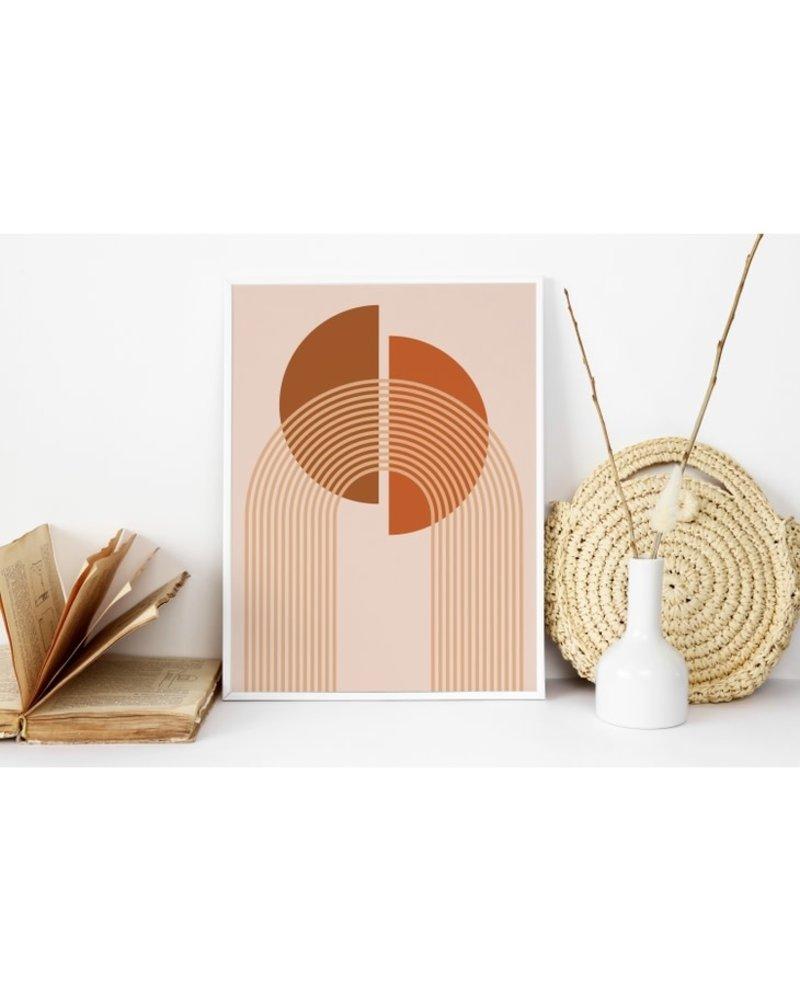 """Sam's Simple Decor Boho Rainbow and Moon Print 8x10"""""""