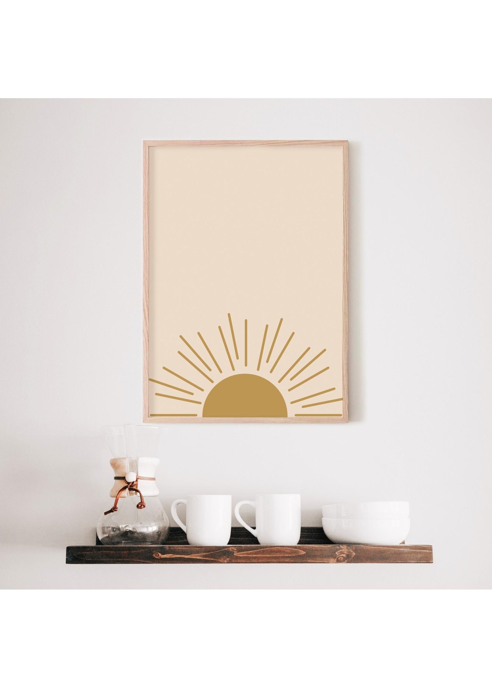 """Sam's Simple Decor Boho Sunrise Print 8x10"""""""