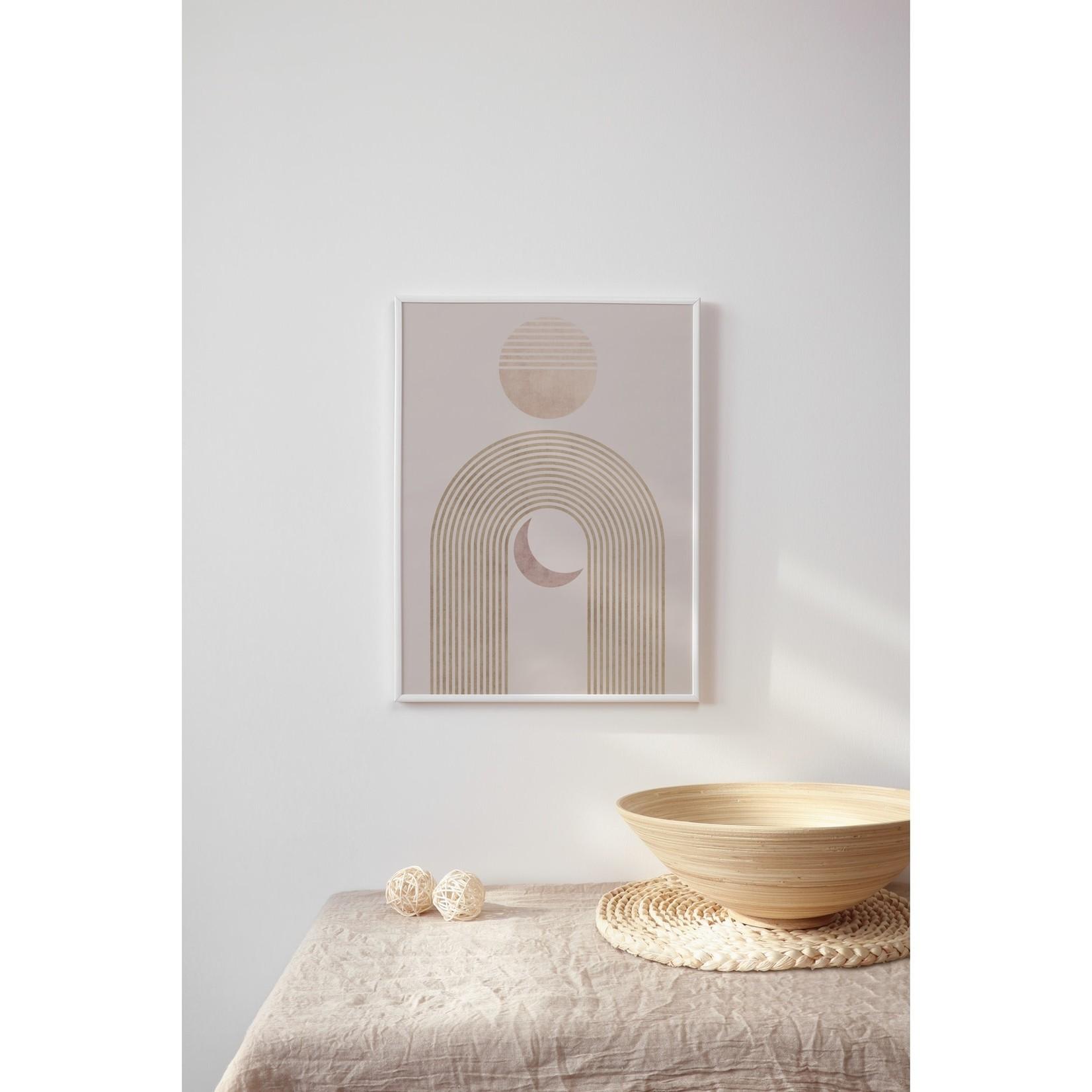 """Sam's Simple Decor Rainbow Sun and Moon Abstract Print 8x10"""""""