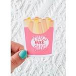 Sam's Simple Decor Fries Over Guys Sticker