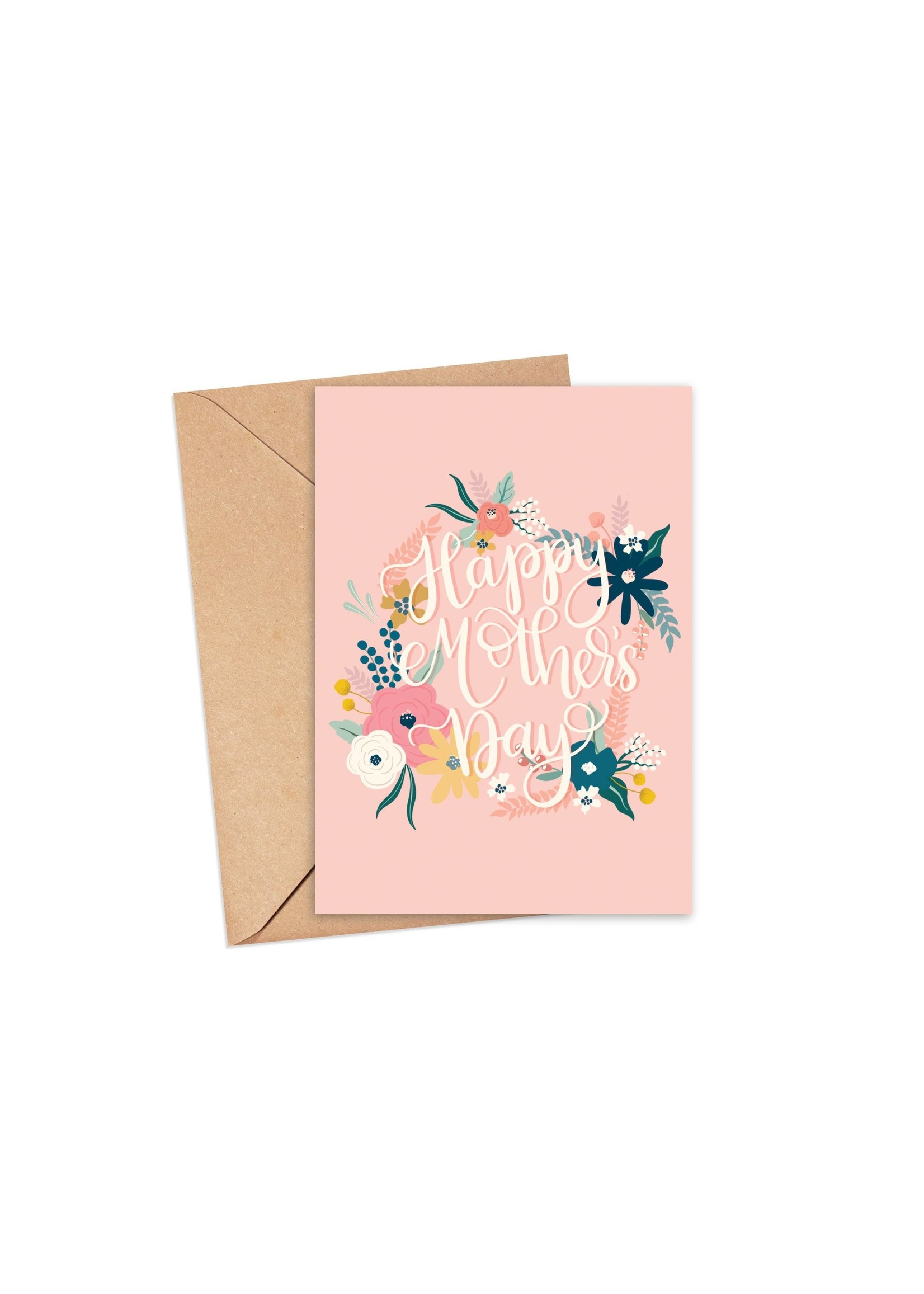Sam's Simple Decor Happy Mother's Day Floral Wreath Card