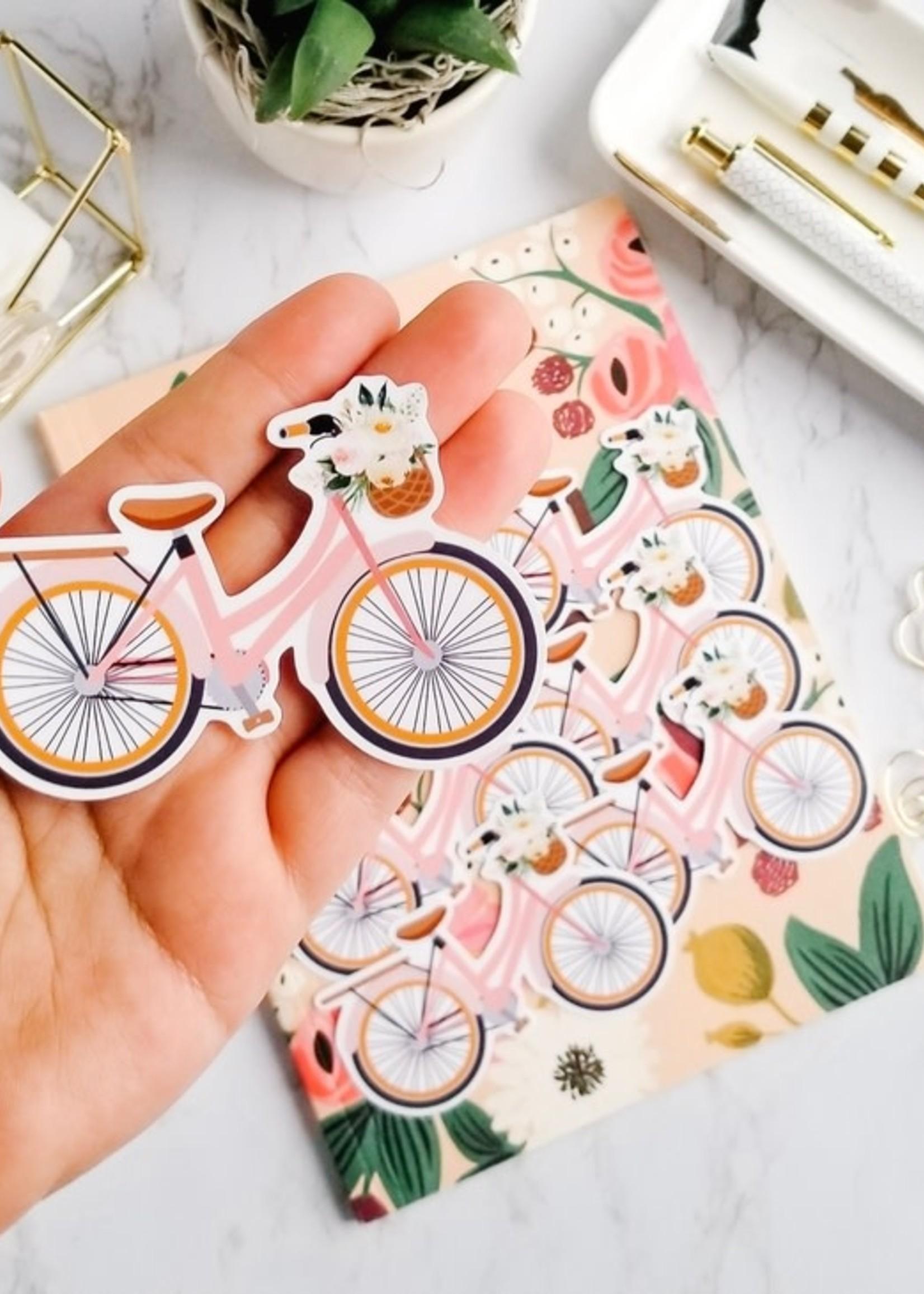 Sam's Simple Decor Vintage Floral Bike Sticker
