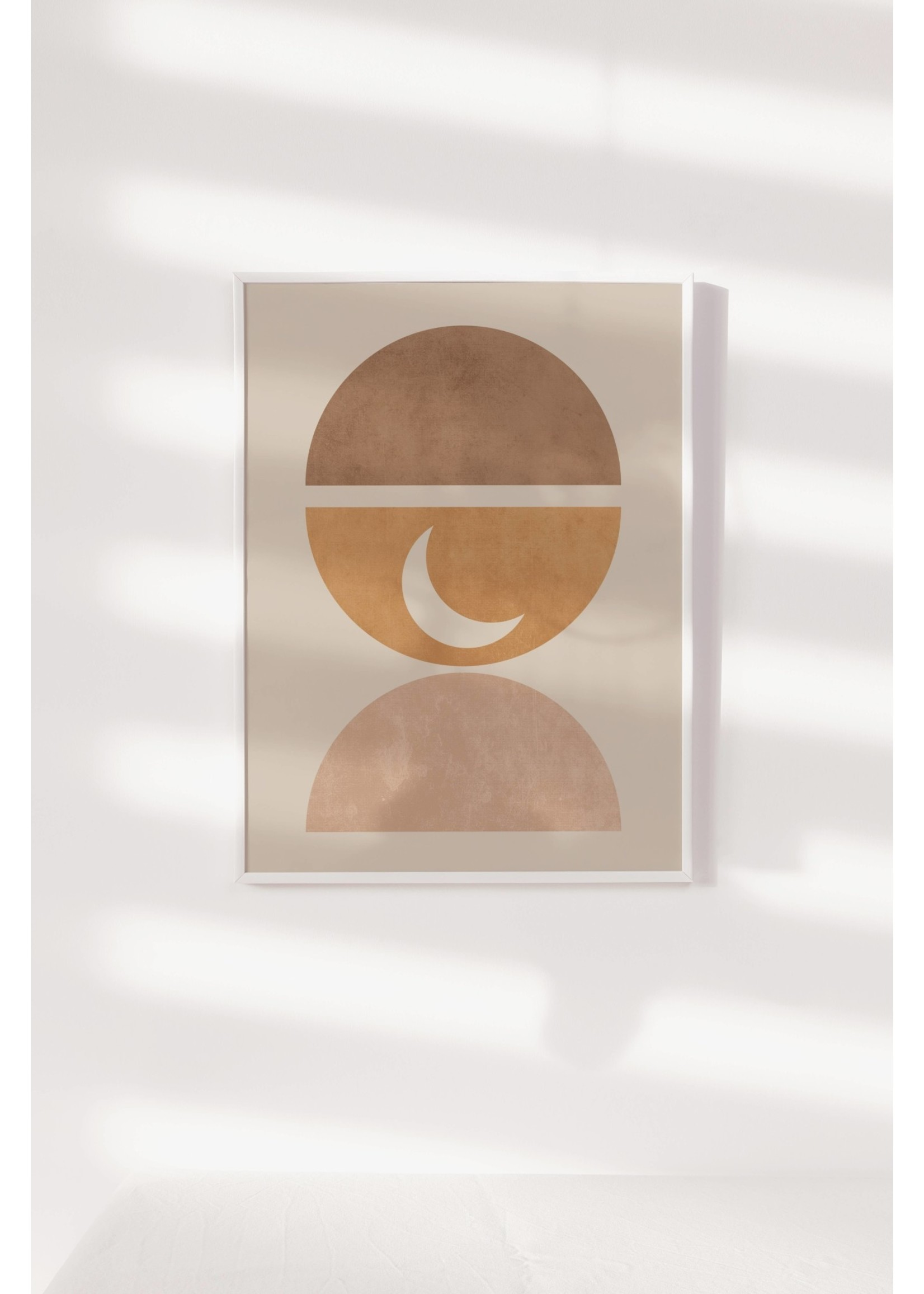 "Sam's Simple Decor Half Circles and Moon Print 8x10"""