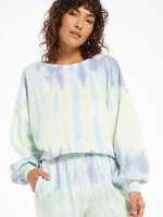 Z Supply Tempest Sorbet Skies Tie-Dye Pullover