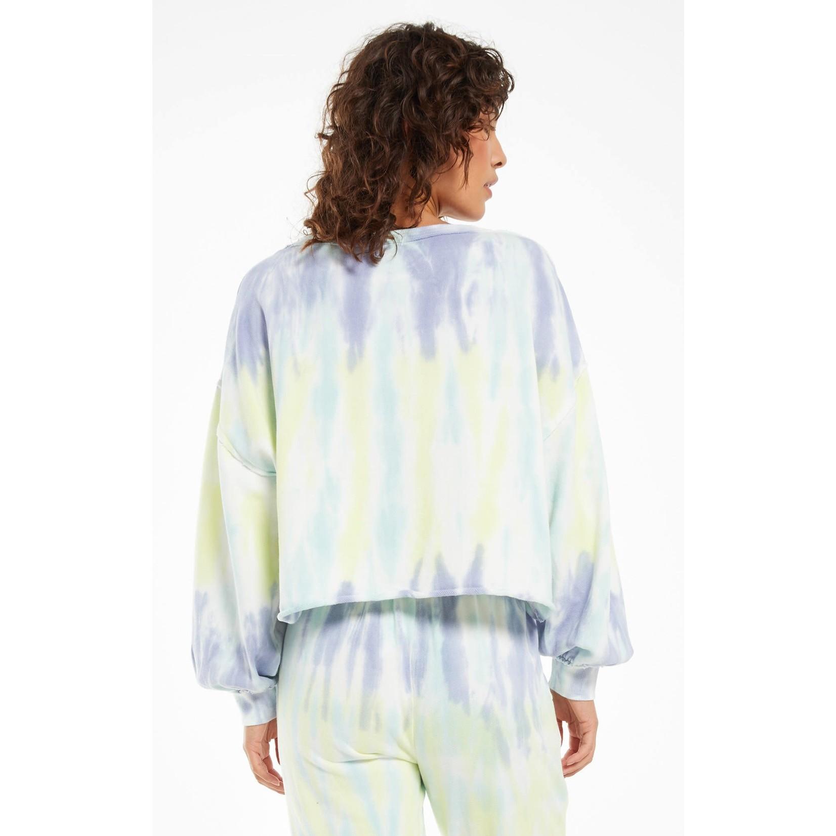 Z Supply Tempest Sorbet Skies Tie-Dye Pullover